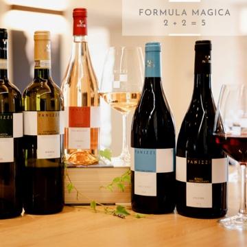 2+2 = 5 degustazione vini bianchi e vini rossi Panizzi